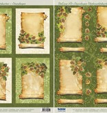 BILDER / PICTURES: Studio Light, Staf Wesenbeek, Willem Haenraets 2 Deluxe Die cut ark: baggrundsbilleder med guld ramme + 3D Die cut ark