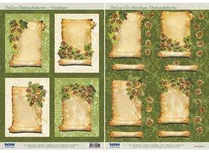 BILDER / PICTURES: Studio Light, Staf Wesenbeek, Willem Haenraets 2 Deluxe Die cut sheets: background images with gold frame + 3D Die cut sheets