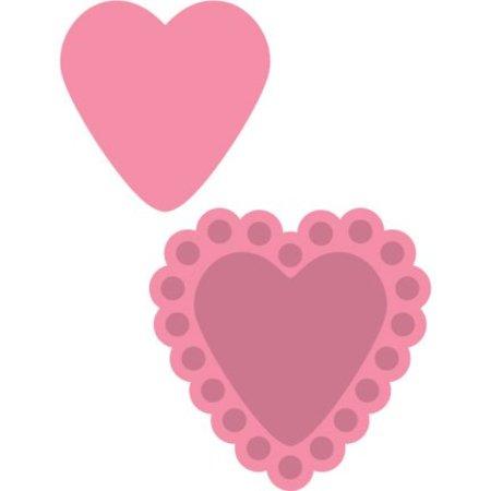 Marianne Design Estampación y corte de plantillas + estampilla, corazones de caramelo