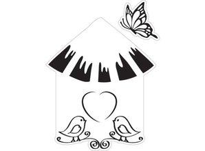 Marianne Design Stempling og prægning stencil + stempel, voliere: fugle