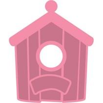 Estampación y embutición de la plantilla + Birdhouse sello: Daheim