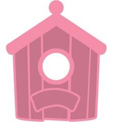 Marianne Design Stampaggio e goffratura stencil + Birdhouse timbro: Daheim