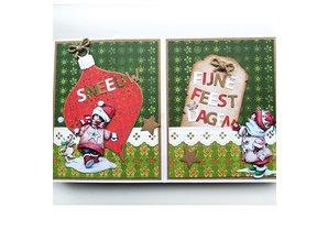 Marianne Design Estampado y Repujado plantilla, bolas del árbol de Navidad