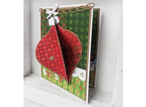 Marianne Design Stamping and Embossing stencil, Christmas tree balls