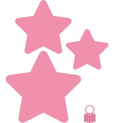 Marianne design corte y estampado en relieve plantillas - Plantilla estrella navidad ...