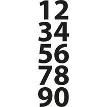 Stanz- und Prägeschablonen, kleine Zahlen