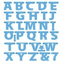 Cutting en embossing stencils, letters Garland