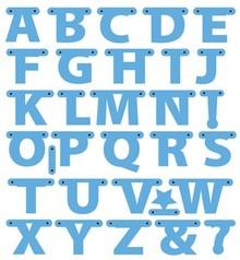 Marianne Design Taglio e goffratura stencil, lettere Garland