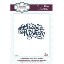 """Skæring og prægning stencils, The Expressions Collection """"Best Wishes"""""""