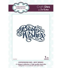 "Creative Expressions Cutting and embossing stencils, The Expressions Collection ""Best Wishes"""