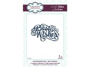 """Creative Expressions Cutting and embossing stencils, The Expressions Collection """"Best Wishes"""""""
