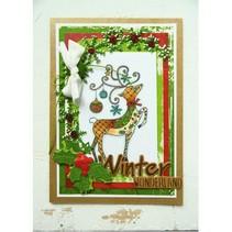 Stamp, Transparent, reindeer