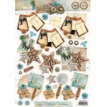 A4 Gestantzte 3D Bogen, Winter Memories