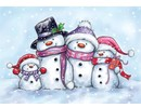 Wild Rose Studio`s Transparent Stempel, cute snowmen