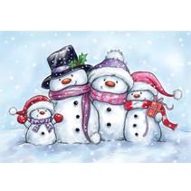 Transparent Stempel, cute snowmen