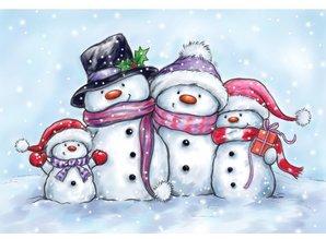 Wild Rose Studio`s Transparent Stempel, cute snowmen