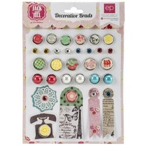 30 Decorative Brads and 5 Labels