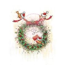 Transparent Stempel, Weihnachtskranz