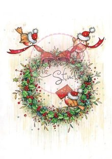 Wild Rose Studio`s Transparent stamps, Christmas wreath