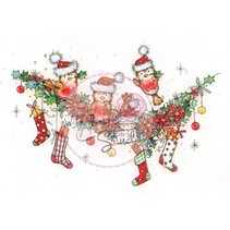Sellos transparentes, corona de Navidad