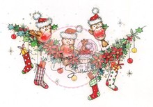 Wild Rose Studio`s Sellos transparentes, corona de Navidad