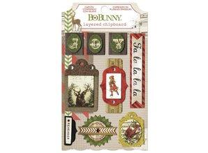 Bo Bunny Bo Bunny, Collection jul, 3D klistermærker spånplader