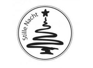 Stempel / Stamp: Holz / Wood Mini træ stempel, Silent Night, ø 2cm