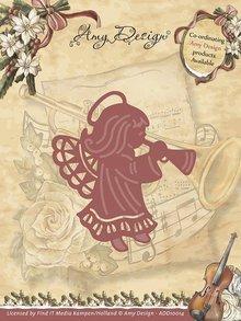 Amy Design Skæring og prægning stencils, engel