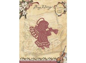 Amy Design Taglio e goffratura stencil, angelo