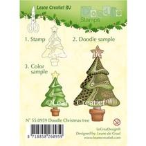 Gennemsigtige doodle frimærker, jul