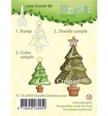 Leane Creatief - Lea'bilities Transparent doodle stamps, Christmas
