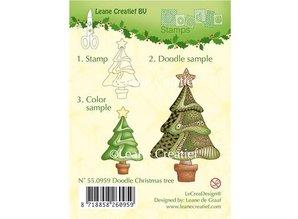Leane Creatief - Lea'bilities Gennemsigtige doodle frimærker, jul