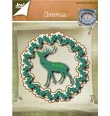 Joy!Crafts und JM Creation Stansning og prægning skabeloner, jul krans og Hirsch