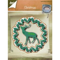 Punching and embossing templates, Christmas wreath and Hirsch