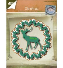 Joy!Crafts und JM Creation Punching and embossing templates, Christmas wreath and Hirsch