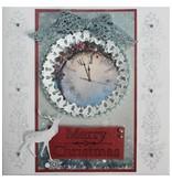 Joy!Crafts und JM Creation plantillas de punzonado y estampado en relieve, corona de Navidad y Hirsch