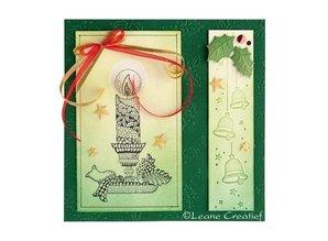 Leane Creatief - Lea'bilities Emboss.templ, Borde: Christmas bells