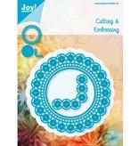 Joy!Crafts und JM Creation Corte y estampado en relieve plantillas, círculos y esquina