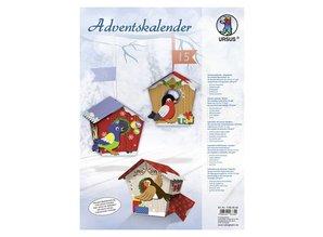"Exlusiv Complete Bastelset for an Advent calendar ""birdie"""
