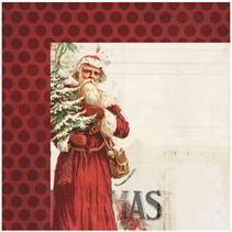 1 Designer Bogen, Vintage Christmas, 30,5 x 30,5 cm