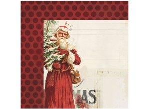 Designer Papier Scrapbooking: 30,5 x 30,5 cm Papier 1 Diseñador Arch, de época de Navidad, 30,5 x 30,5 cm