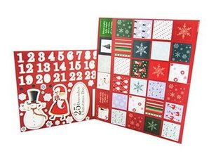 Komplett Sets / Kits Bastelset to design an advent calendar with 24 doors