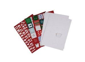 Komplett Sets / Kits Bastelset para diseñar un calendario de adviento con 24 puertas