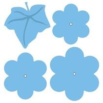 Stanz- und Prägeschablonen, Blumen und Blatt XL
