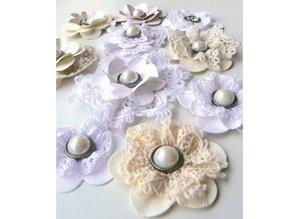 Marianne Design Corte y estampado en relieve plantillas, flores y hojas XL