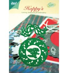 Joy!Crafts und JM Creation Punching and embossing templates, christmas wreath