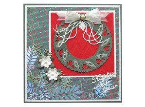 Joy!Crafts und JM Creation Stanz- und Prägeschablonen, weihnachtskranz