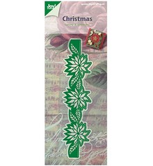 Joy!Crafts und JM Creation Stamping and Embossing stencil: poinsettia garland