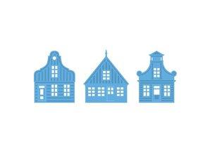 Marianne Design Corte y estampado en relieve plantillas, 3 Casas