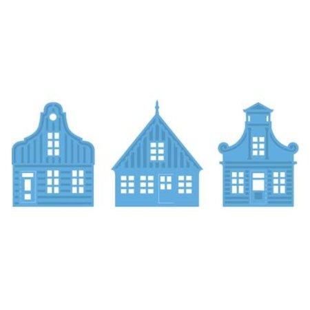 Marianne Design Stanz- und Prägeschablonen, 3 Häuser